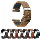 Universal Vintage Style Distressed Genuine Leather Men Watch Band Strap handmade image