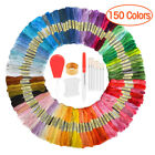 50-150 Cross Stitch Thread Embroidery Floss Sewing Skeins 100% Cotton Line