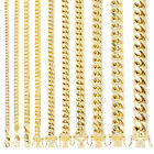 """14K Yellow Gold Real 3mm-14.5mm Miami Cuban Link Chain Pendant Necklace, 16""""-30"""" image"""