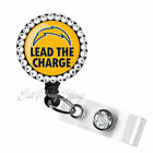 LA Chargers Badge Reel Name Tag ID Pull Clip Holder Lanyard Los Angeles Bling $14.99 USD on eBay
