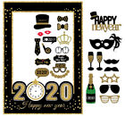 2020 Happy New Year's Eve Party Supplies Masks Photo Booth Props Supplies