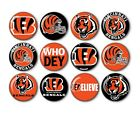 "Cincinnati Bengals Button Badge Pin Pinback Magnet Flatback 1.25"" Fan Gift Set $10.99 USD on eBay"