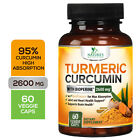 Turmeric Curcumin Highest Potency 95% 2600mg with Bioperine Black Pepper Extract