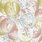 30th Rose Gold Shiny Birthday Party Balloons Tableware Decorations Supplies