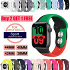 38/42/40/44mm Silicone Sport Band iWatch Strap for Apple Watch Series 5 4 3 2 1 image