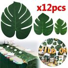 12pcs Artificial Tropical Palm Leaves For Hawaiian Theme Party Table Decoration