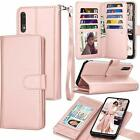 Samsubg Galaxy A70 Wallet Case Protective Cover Shockproof Folio Flip Leather