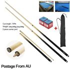"57"" FULL LENGTH 2-PIECE POOL SNOOKER BILLIARD GRAPHITE CUE FREE DELIVERY $27.89 AUD on eBay"
