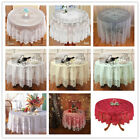 """Round Table Cloth Cover Topper Vintage Floral Lace Tablecloth Wedding Party 70"""""""