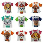 Boys Girls Kids Official PAW Patrol Character T-Shirt Short Sleeve Top 2-7 Years