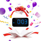 1x Practical Digital Voice Talking LED Alarm Clock 3 Colors Kids Gifts