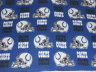 NFL Indianapolis Colts Cotton Fabric BTY - Free Shipping $7.95 USD on eBay