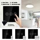 1/2/3 Gang RF Wireless Smart Touch Screen Panel Light Switch Control + Receiver