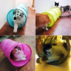 LN_ QA_ Pet Cat Dog Small Foldable Tunnel Toy Dangling Bell Decron Cloth Sleep