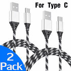 2-PACK For Motorola Moto Z4 Play Z3 Z2 G7 USB Type C Charging Cord Cable Charger
