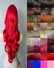 Long Hair Extensions Clipin Hair Human Feel Ginger Light Copper Blonde Blue Pink