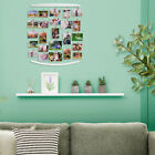 Photo Collage Frames Hanging Display Wood Multiple Pictures Board with 30 Clips