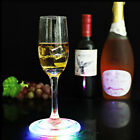 LED Light Color Bottle Cup Mat Sticker Club Cocktail Party Pad Holder Square