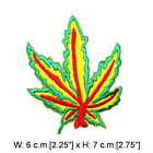 Cannabis Marijuana Ganja Weed Leaf Reggae Marley Hippie Emblem Cloth Iron patch