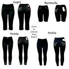 Women's Jeggings Denim Slim Strectch w/Front+Back Pockets Ankle/Bermuda/Capri