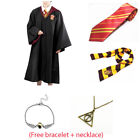 US Harry Potter Gryffindor Robe Cloak Adult Kid Custom Cape + Tie +Scarf Set Cos