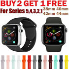 Silicone wrist bracelet strap iwatch band for apple watch series 5/4/3/2 40/44mm image