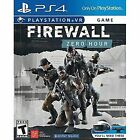 Firewall Zero Hour (Playstation 4, 2018) PS4 VR NEW SEALED