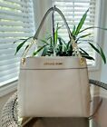 New Michael Kors Large JET SET ITEM Leather Signature Chain Shoulder Tote Bag