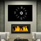 Modern Mirror Face Roman Numeral Clock Frameless 3D DIY Wall Clocks Home Decor