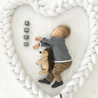 Baby Cot Bedding Bumper Infant Crib Woven Thick Plush Protection Pad Pillow 1/3M