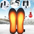 USB Charge Electric Feet Heated Shoe Boot Insoles Inserts Sock Snow FOOT WARMER