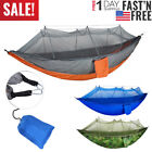 280Kg Outdoor Garden Camping Hammock Foldable Hanging Bed Travel + Mosquito Net