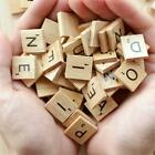 SCRABBLE WOOD TILES 100-500 Pieces Full Sets Letters Wooden Replacement Pick