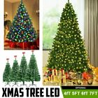 4/5/6/7Feet Pre-Lit LED Lights Artificial Christmas Pine Tree with Mental Stand