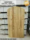 Made to measure feather edge garden gates sawn semi braced dome top 5,6,7ft high