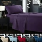 Bed sheets set 1800 Count 4 Piece Deep Pocket Bed Sheet Set King Queen Size R9 image