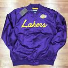 Authentic & Mitchell & Ness Scrip Los Angeles Lakers Satin Light Purple Jacket on eBay