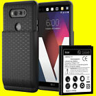 For LG V20 BL-44E1F 10900mAh Extended Replacement Battery w/ Back Cover TPU Case