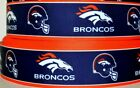 "Grosgrain Ribbon 7/8"" & 1.5"" Denver Broncos Sport Football Team Printed. $2.69 USD on eBay"