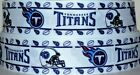 "Grosgrain Ribbon 7/8"" & 1.5"" Tennessee Titans Sport Football Team Printed. $6.49 USD on eBay"