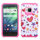 For One M9 Hard Design +Silicone Cover Protector Case