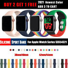 Sports iWatch Silicone Band Strap for Apple Watch 40/44mm 38/42mm Series 5 4 3 2 image