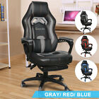 Office Gaming Computer Chair Racing Ergonomic High Back Seat Footrest Adjustable