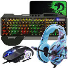 4in1 Gaming Combo For PS4 RGB Backlit Gaming Keyboard and Mouse + Headset Bundle