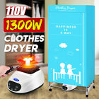Used, 1300W 110V Foldable Clothing Dryer Electric Cloth Drying Machine Home Indoor for sale  Shipping to Nigeria