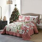 3Pc Quilt Bedspread Sets Bedding Coverlet Bedroom Floral Queen King Size, BY009 image