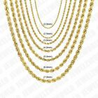 """10K Solid Yellow Gold Necklace Rope Chain 14'' - 30"""" 2mm 2.5mm 3mm 4mm 5mm 6mm image"""