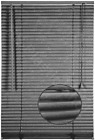 Embossed Pattern PVC Blind Venetian Window Blinds Easy Fit Trim-able Steel Grey