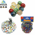 Glass+Marbles+Assorted+Cat%27s+Eye+%26+Milky+Coloured+Kids+Toys+Vintage+Puzzle+Games
