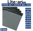 GREY STRONG MAILING MIXED BAGS PLASTIC POSTAL MAIL POSTAGE POLY UK SELLER